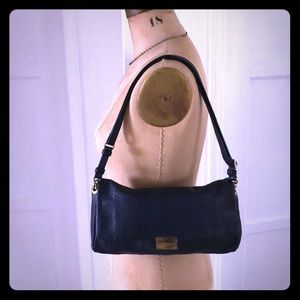 JCrew Blue Leather Shoulder Bag